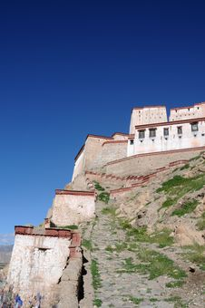 Tibet:Ancient Castle In Tibet Stock Images