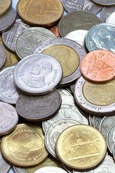 Free Thai Coins Background Stock Photos - 17677783