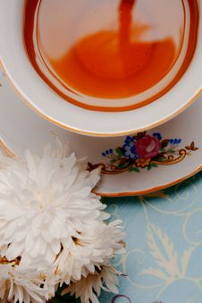 Free Cup Of Tea With Flower Stock Images - 17677864