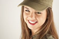 Free Beautiful Woman In Military Clothes Royalty Free Stock Image - 17677936