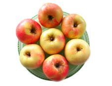Free Apples On The Plate Stock Photos - 17677993