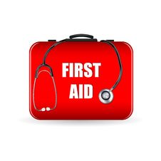 Free First Aid Box With Stethoscope Stock Photo - 17678200