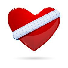 Free Heart With Measuring Tape Royalty Free Stock Images - 17678219