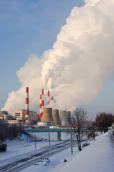 Heating And Power Plant Royalty Free Stock Photography