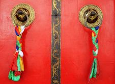 Free Tibetan Door Royalty Free Stock Photography - 17678497