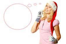 Free Beautiful Santa Young Woman Royalty Free Stock Images - 17678749