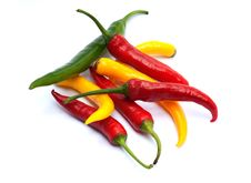 Free Multicolor Chili Peppers Stock Image - 17678791