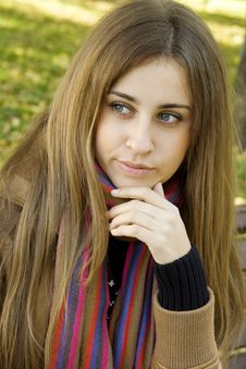 Free Young Woman In Park Stock Image - 17678861