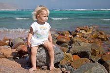 Free Little Girl At The Beach Stock Images - 17678934