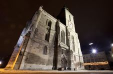 Night Shot Of The Black Church In Brasov Stock Images