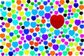 Free Red Heart On Colorful Hearts Stock Photos - 17680453