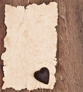Free Old Paper On Brown Wood Texture Royalty Free Stock Image - 17681826