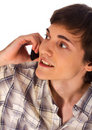 Free Young Man Talking Mobile Phone Royalty Free Stock Image - 17682576