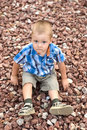 Free A Boy On Stones Royalty Free Stock Photography - 17685837