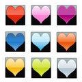 Free Shiny Hearts Stock Photography - 17688152
