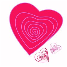 Spiral Heart, Stylized Image Of Rose Stock Image