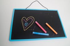 Free Chalkboard Love Royalty Free Stock Photography - 17680127