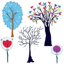 Free Trees Set Royalty Free Stock Image - 17680966