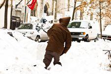 Free Digging Snow Royalty Free Stock Image - 17681106