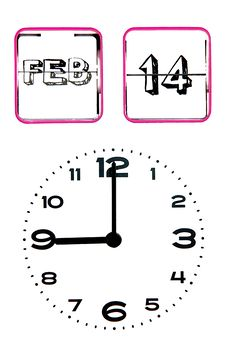 Free Valentines Day Clock Stock Images - 17682484