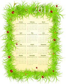 Free Vector American Spring 2011 Calendar Stock Photography - 17682952