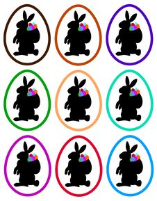 Easter Bunnies In Eggs