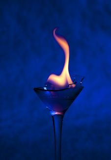 Free Cocktail With Flame Royalty Free Stock Photos - 17683288