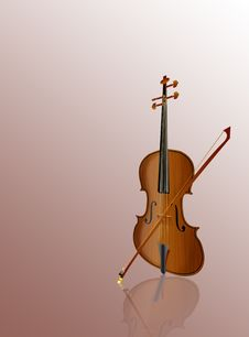 Violin With A Bow Stock Image