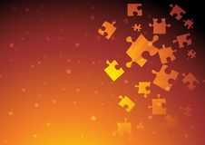 Free Vector Golden Puzzle Royalty Free Stock Images - 17683679