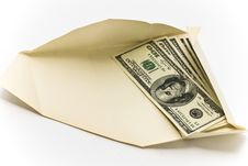 Dollars In Paper Convolution Stock Photography
