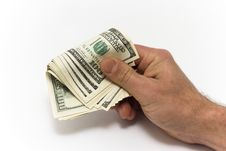 Free Dollars In The Men S Hand Royalty Free Stock Images - 17683829