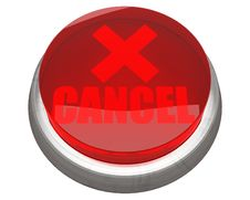 Free Red CANCEL Button Isolated Royalty Free Stock Photos - 17684118