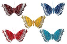 Butterfly Decoration Isolated Royalty Free Stock Photos