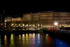 Free City Center Of Stockholm In Night Stock Photos - 17684653