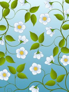 Free Decorative Floral Background Royalty Free Stock Photos - 17685068