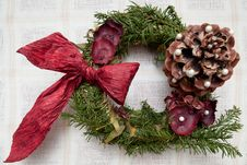 Free Hristmas Wreath Royalty Free Stock Image - 17685306