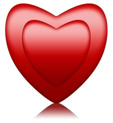 Cushioned Red Heart Inside Another Stock Images
