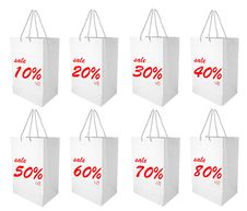 Free Shopping Bag With Discount Percentage Royalty Free Stock Photo - 17685425