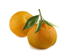 Free Two Tangerines Royalty Free Stock Photography - 17685647