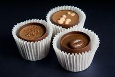 Free Three Chocolate Candies Stock Image - 17685821