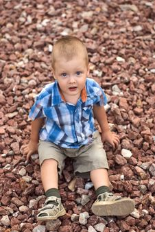 Free A Boy On Stones Stock Images - 17685874