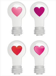 Free Lamps With Hearts Royalty Free Stock Image - 17686246