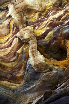 Coloured Stone Formations Royalty Free Stock Photography
