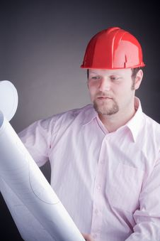 Free Construction Engineer Surveying The Open Project Stock Photos - 17686363
