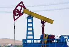 Free Oil Pump Jack Close-up Stock Image - 17686781