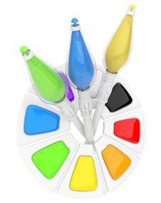 Free Electron Paintbrush. Futuristic Royalty Free Stock Images - 17686919