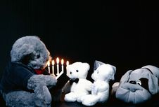 Free Teddy Bears Getting Married Stock Photography - 17687492