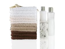Free Wash Cloths In Natural Colors Stock Photography - 17687712