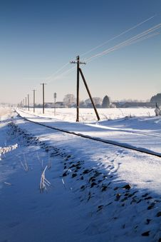 Free Railway Track In Winter Stock Photos - 17687933