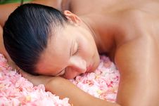 Free Beautiful Woman Relaxing On The Massage Table Stock Photos - 17687943